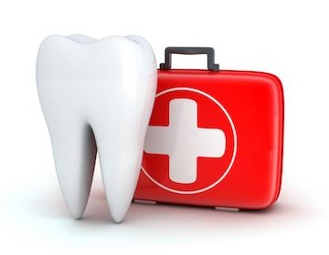 tooth and medical kit illustration