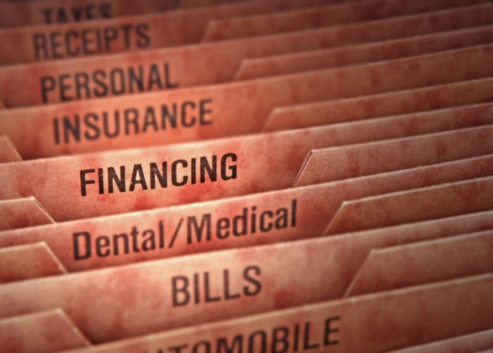 dental insurance and filing cabinet
